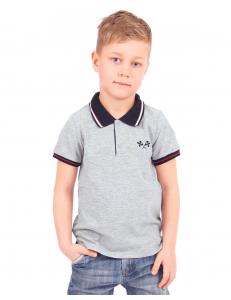 """Рубашка-поло для мальчиков серого цвета """"Формула"""""""