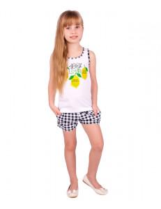 Комплект летний с лимонами (шорты и майка)